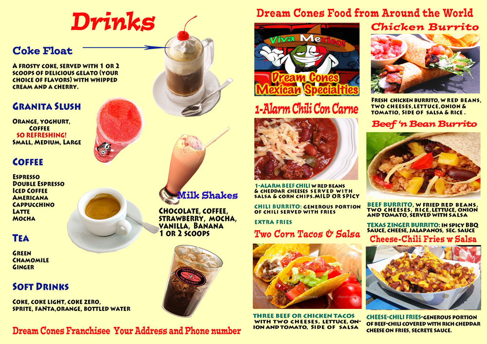 Good Apple Menu Mexican food and drinks Fusion food