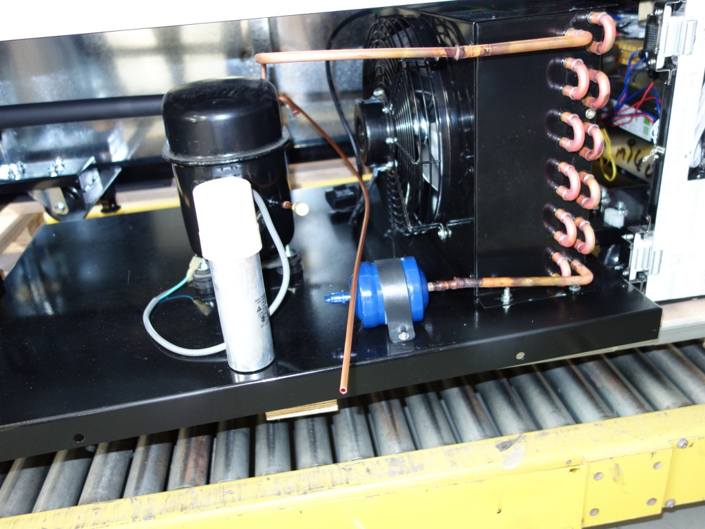 Beautiful, clean compressor assembly for Century 21 Cold Deli Cases