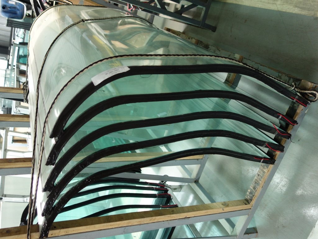Triple pane glass made at factory for Century 21 Hot & Cold Deli Cases