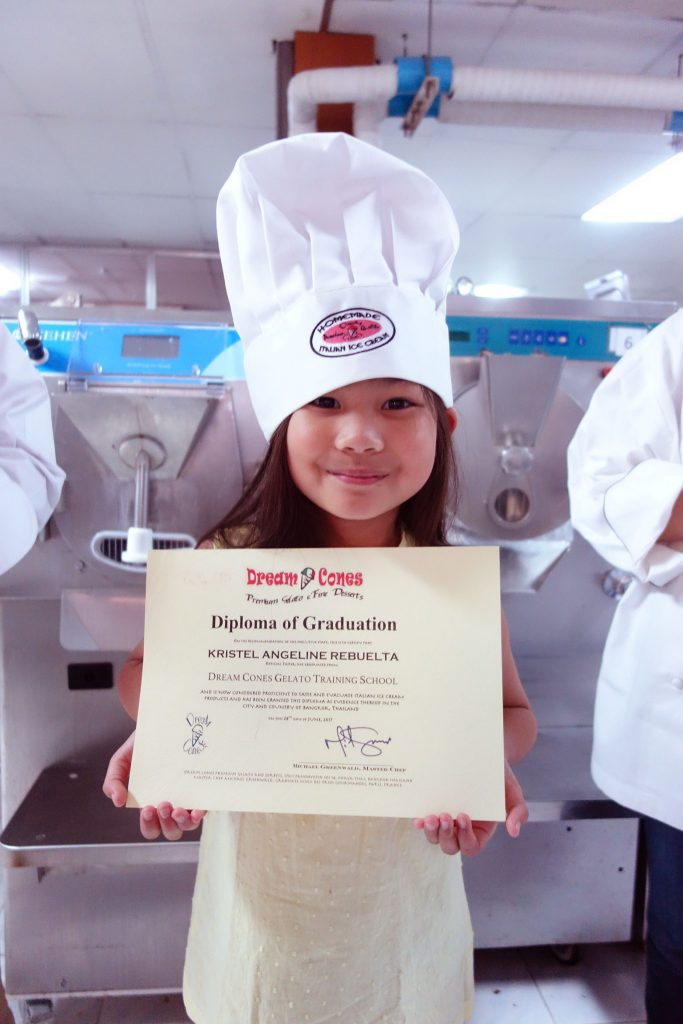 Our Youngest graduate with a ″Tasting and Evaluation″ Degree